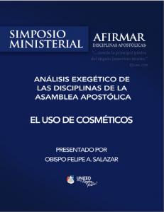 Book Cover: 287 - El uso de cosméticos - Análisis Exegético - Simposio ministerial