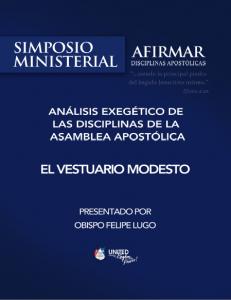 Book Cover: 286 - El vestuario modesto - Análisis Exegético - Simposio ministerial